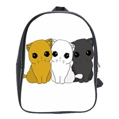 Cute Cats School Bag (large) by Valentinaart