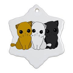 Cute Cats Snowflake Ornament (two Sides) by Valentinaart
