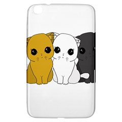 Cute Cats Samsung Galaxy Tab 3 (8 ) T3100 Hardshell Case  by Valentinaart