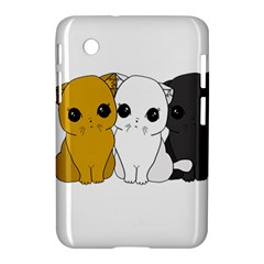 Cute Cats Samsung Galaxy Tab 2 (7 ) P3100 Hardshell Case  by Valentinaart