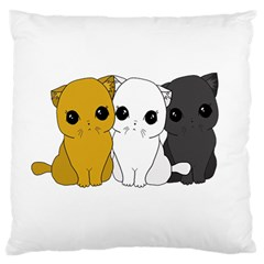Cute Cats Standard Flano Cushion Case (one Side) by Valentinaart