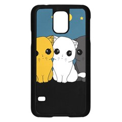 Cute Cats Samsung Galaxy S5 Case (black) by Valentinaart