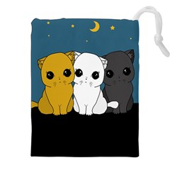 Cute Cats Drawstring Pouches (xxl) by Valentinaart