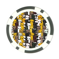 Cute Cats Pattern Poker Chip Card Guard (10 Pack) by Valentinaart