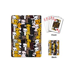 Cute Cats Pattern Playing Cards (mini)  by Valentinaart