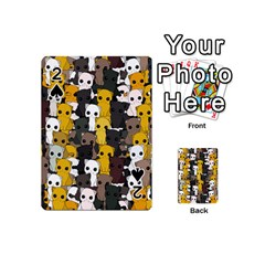 Cute Cats Pattern Playing Cards 54 (mini)  by Valentinaart