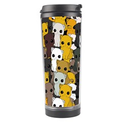 Cute Cats Pattern Travel Tumbler by Valentinaart