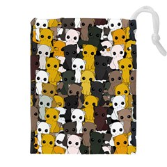 Cute Cats Pattern Drawstring Pouches (xxl)