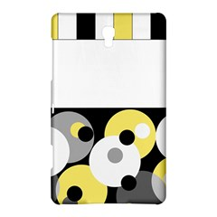 Black, Gray, Yellow Stripes And Dots Samsung Galaxy Tab S (8 4 ) Hardshell Case  by digitaldivadesigns