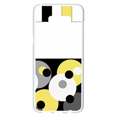 Black, Gray, Yellow Stripes And Dots Samsung Galaxy S8 Plus White Seamless Case by digitaldivadesigns