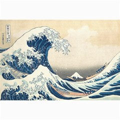 The Classic Japanese Great Wave Off Kanagawa By Hokusai Canvas 20  X 30   by PodArtist