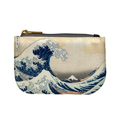 The Classic Japanese Great Wave Off Kanagawa By Hokusai Mini Coin Purses