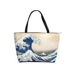 The Classic Japanese Great Wave Off Kanagawa By Hokusai Shoulder Handbags by PodArtist