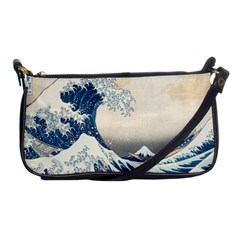 The Classic Japanese Great Wave Off Kanagawa By Hokusai Shoulder Clutch Bags by PodArtist