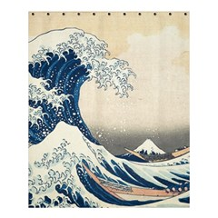 The Classic Japanese Great Wave Off Kanagawa By Hokusai Shower Curtain 60  X 72  (medium)  by PodArtist