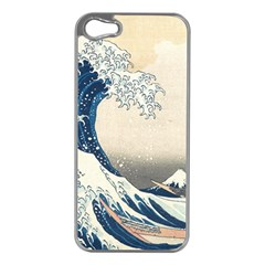 The Classic Japanese Great Wave Off Kanagawa By Hokusai Apple Iphone 5 Case (silver) by PodArtist