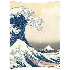 The Classic Japanese Great Wave Off Kanagawa By Hokusai Back Support Cushion