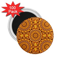 Golden Mandalas Pattern 2 25  Magnets (100 Pack)  by linceazul