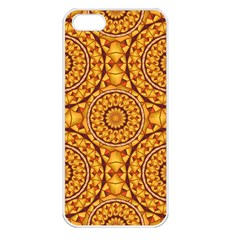 Golden Mandalas Pattern Apple Iphone 5 Seamless Case (white) by linceazul