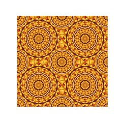Golden Mandalas Pattern Small Satin Scarf (square) by linceazul