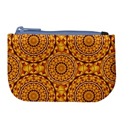 Golden Mandalas Pattern Large Coin Purse by linceazul