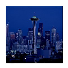 Space Needle Seattle Washington Tile Coasters by Nexatart