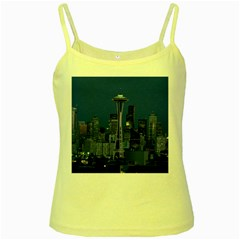 Space Needle Seattle Washington Yellow Spaghetti Tank by Nexatart
