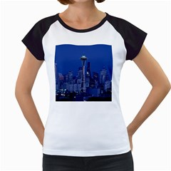 Space Needle Seattle Washington Women s Cap Sleeve T