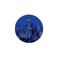 Space Needle Seattle Washington Golf Ball Marker (4 Pack) by Nexatart