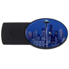 Space Needle Seattle Washington Usb Flash Drive Oval (2 Gb) by Nexatart