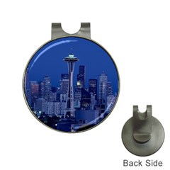 Space Needle Seattle Washington Hat Clips With Golf Markers by Nexatart