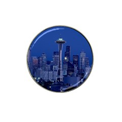 Space Needle Seattle Washington Hat Clip Ball Marker by Nexatart