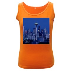 Space Needle Seattle Washington Women s Dark Tank Top
