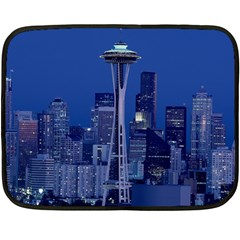 Space Needle Seattle Washington Double Sided Fleece Blanket (mini)  by Nexatart