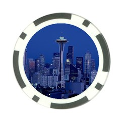 Space Needle Seattle Washington Poker Chip Card Guard (10 Pack) by Nexatart