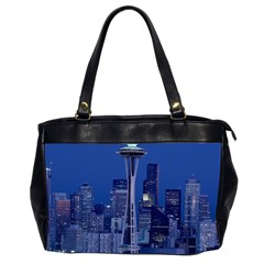 Space Needle Seattle Washington Office Handbags (2 Sides)
