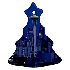 Space Needle Seattle Washington Christmas Tree Ornament (two Sides) by Nexatart