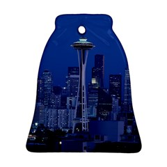 Space Needle Seattle Washington Bell Ornament (two Sides) by Nexatart