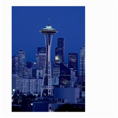 Space Needle Seattle Washington Small Garden Flag (two Sides) by Nexatart
