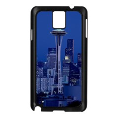 Space Needle Seattle Washington Samsung Galaxy Note 3 N9005 Case (black) by Nexatart