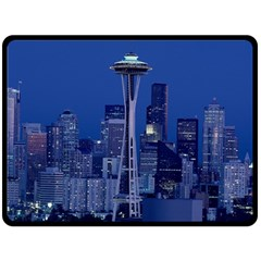 Space Needle Seattle Washington Double Sided Fleece Blanket (large)  by Nexatart