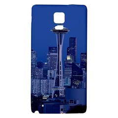 Space Needle Seattle Washington Galaxy Note 4 Back Case by Nexatart