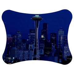 Space Needle Seattle Washington Jigsaw Puzzle Photo Stand (bow) by Nexatart