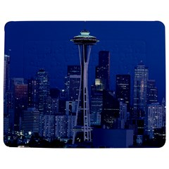 Space Needle Seattle Washington Jigsaw Puzzle Photo Stand (rectangular) by Nexatart