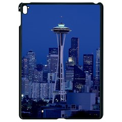 Space Needle Seattle Washington Apple Ipad Pro 9 7   Black Seamless Case by Nexatart