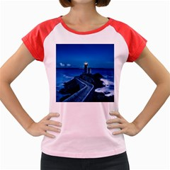 Plouzane France Lighthouse Landmark Women s Cap Sleeve T Shirt