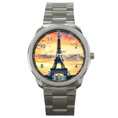 Eiffel Tower Paris France Landmark Sport Metal Watch