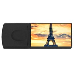 Eiffel Tower Paris France Landmark Rectangular Usb Flash Drive by Nexatart