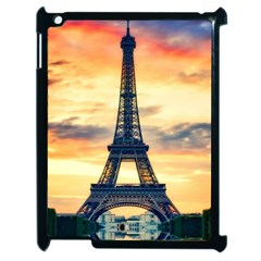 Eiffel Tower Paris France Landmark Apple Ipad 2 Case (black) by Nexatart