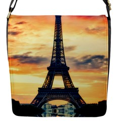 Eiffel Tower Paris France Landmark Flap Messenger Bag (s)
